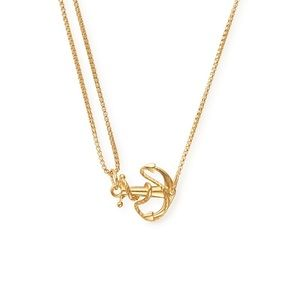 Alex and Ani Anchor Pull Chain Necklace gold nwt